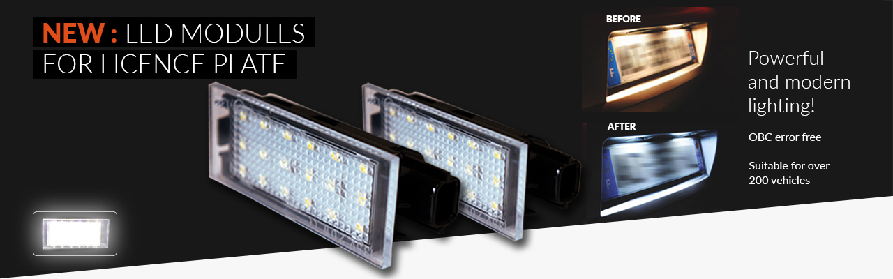 NEW: LED modules for licence plate