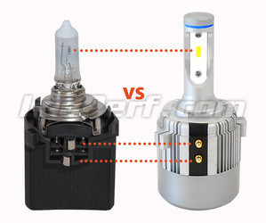 H7 LED Bulb VS Original Halogen Bulb + Holder Ref: 5K0941109 C