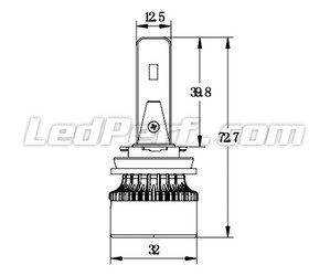 H8 LED Eco Line bulbs compact dimensions