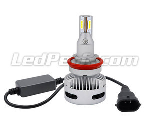 Connection and anti-error box of H9 LED bulbs for lenticular headlights.