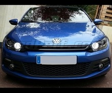 Daytime running light LEDs - (white xenon) - for Volkswagen Scirocco (with original mount xenon)