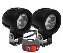 Additional LED headlights for motorcycle Aprilia Shiver 900 - Long range