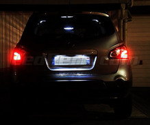 LED Licence plate pack (xenon white) for Nissan Qashqai