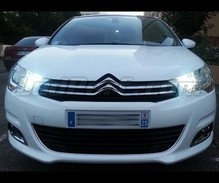 Super white sidelight/daytime running light pack for Citroen C4 II