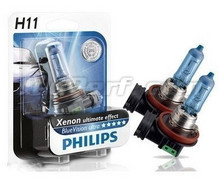 Pack of 2 bulbs H11 White Vision Philips