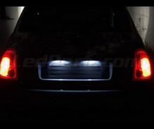 LED Licence plate pack (white xenon) for Fiat 500
