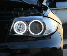Angel eyes pack with LEDs (pure white) for BMW 1 Series phase 2 - MTEC V3.0
