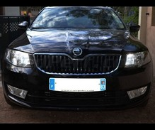 Xenon Effect bulbs pack for Skoda Octavia 3 headlights and daytime running lights