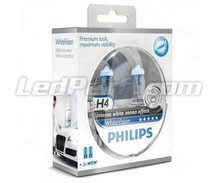 Pack of 2 Philips WhiteVision H4 bulbs + 2 W5W WhiteVision (New!)