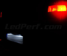 LED Licence plate pack (xenon white) for Opel Vectra C