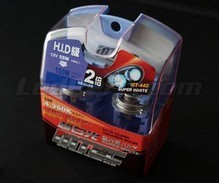 Pack of 2 H16 Angled Cubit bulbs - MTEC Super White - pure White