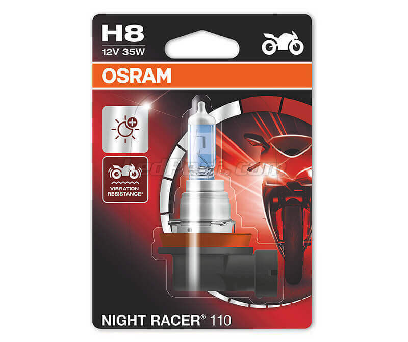 H8 Osram Night Racer 110 bulb for Moto - 64212NR1-01B