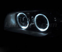 Pack angel eyes with LEDs (pure white) for BMW 1 Series phase 1 - Standard