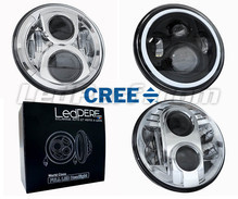LED headlight for Honda CB 500 N - Round motorcycle optics approved