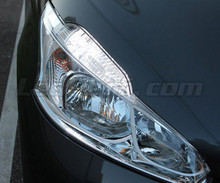 Daytime running light and Sidelight LED pack - (xenon white) - for Peugeot 208 (without original-fit (xenon)