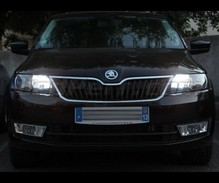 Xenon Effect bulbs pack for Skoda Fabia 3 headlights and daytime running lights