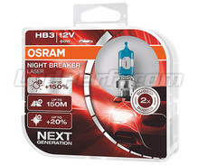 Pack of 2 Osram Night Breaker Laser +150% HB3 bulbs  - 9005NL-HCB