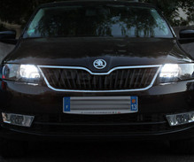 Xenon Effect bulbs pack for Skoda Rapid headlights and daytime running lights