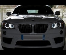 H8 angel eyes pack with white (pure) 6000K LEDs for BMW X1 (E84) - MTEC V3.0